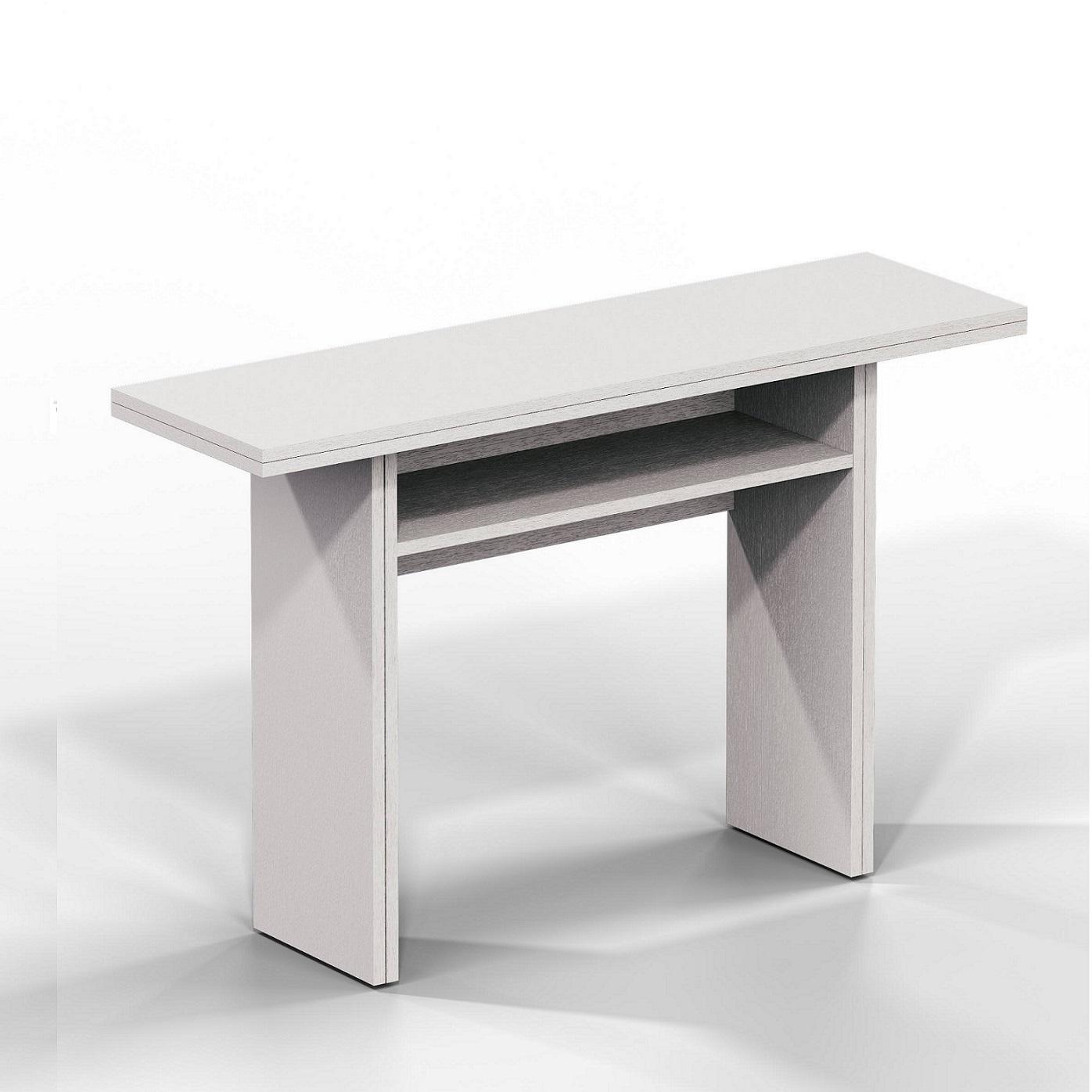 Tavolo Consolle Mezzaluna Allungabile.Tavolo Consolle Bianco El530 Terraneo Ebay